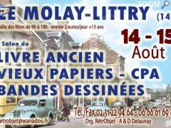 picture of 14/15 août - LE MOLAY LITTRY - 13° salon du LIVRE ANCIEN & OCCASION - PAPIERS - CPA - BD